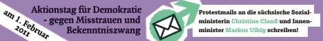 Faxvorlage für die sächsischen Ministerien
